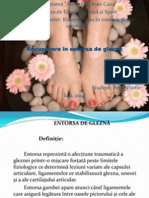 Entorsa gleznei - Recuperare medicala - nightpizza.ro