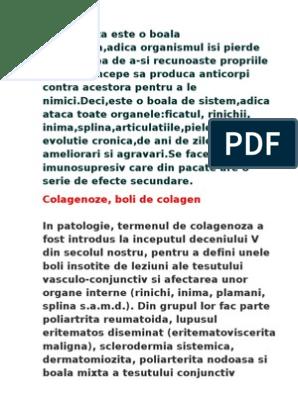 Boala colagenoasă a țesutului conjunctiv. Artroza și forumul său de tratament
