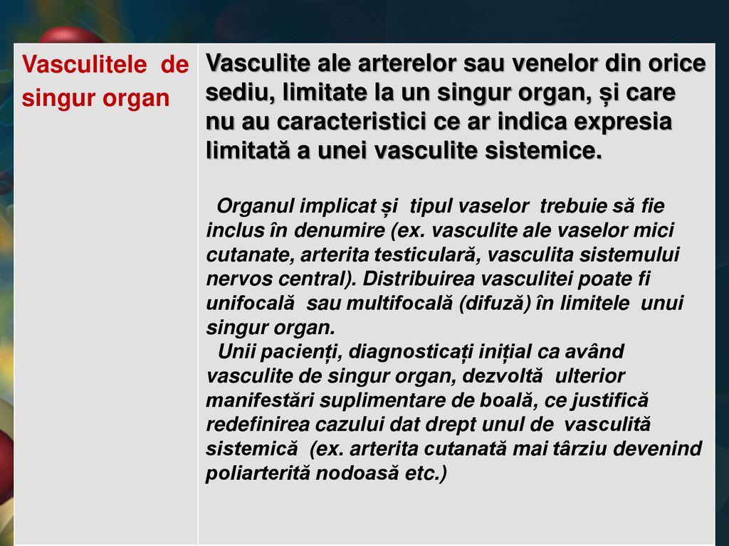 boli ale țesutului conjunctiv și vasculită sistemică