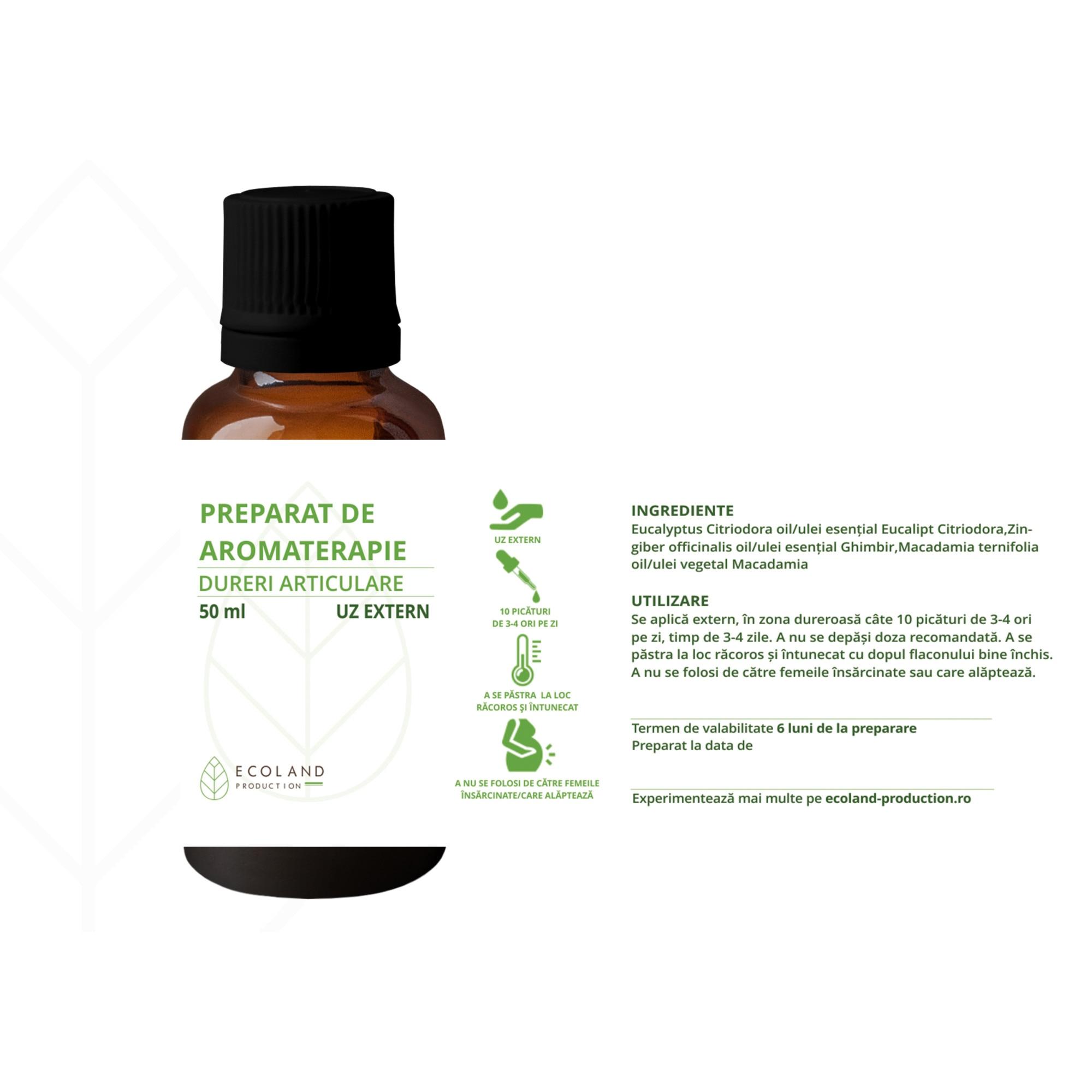 aromaterapie pentru dureri articulare tratament de curbură articulară