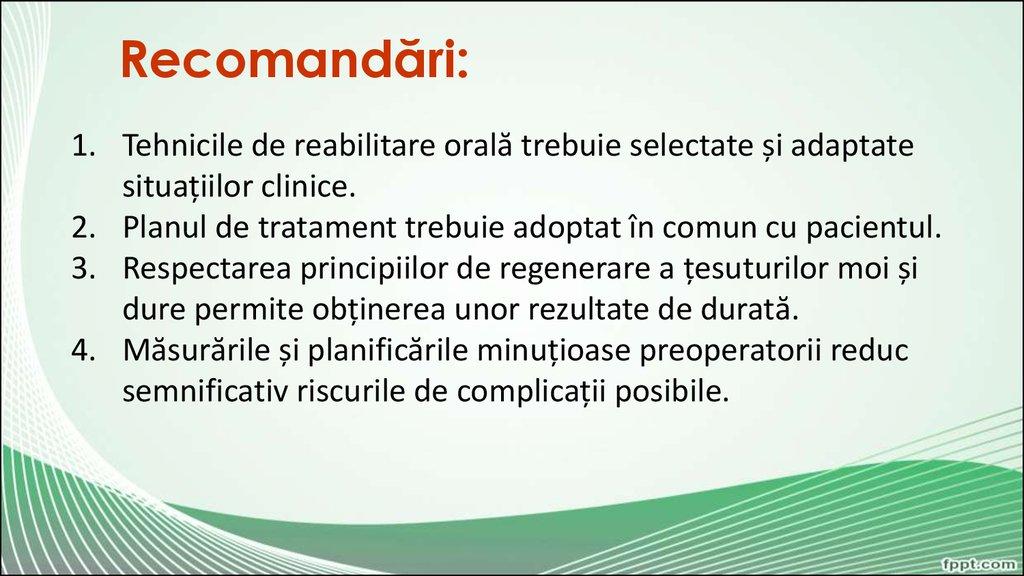 tehnica de tratament comun)