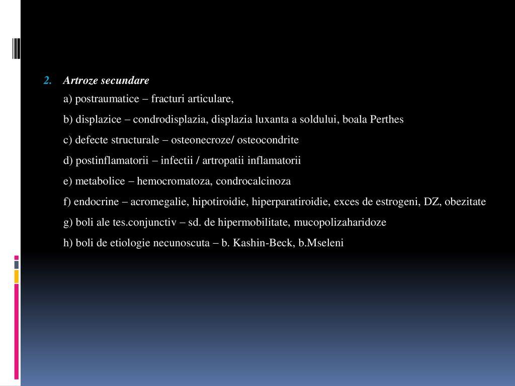 bolile articulare și clasificarea lor)