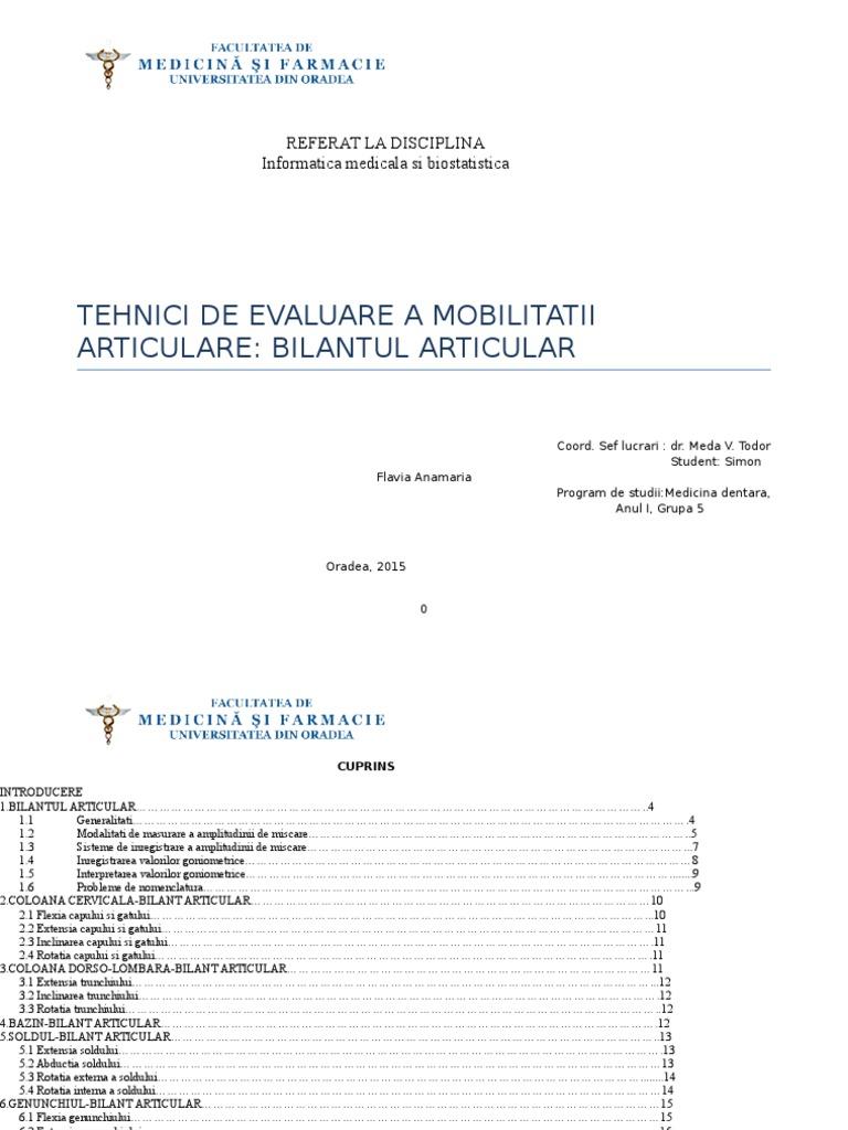 nomenclatura bolilor articulare)