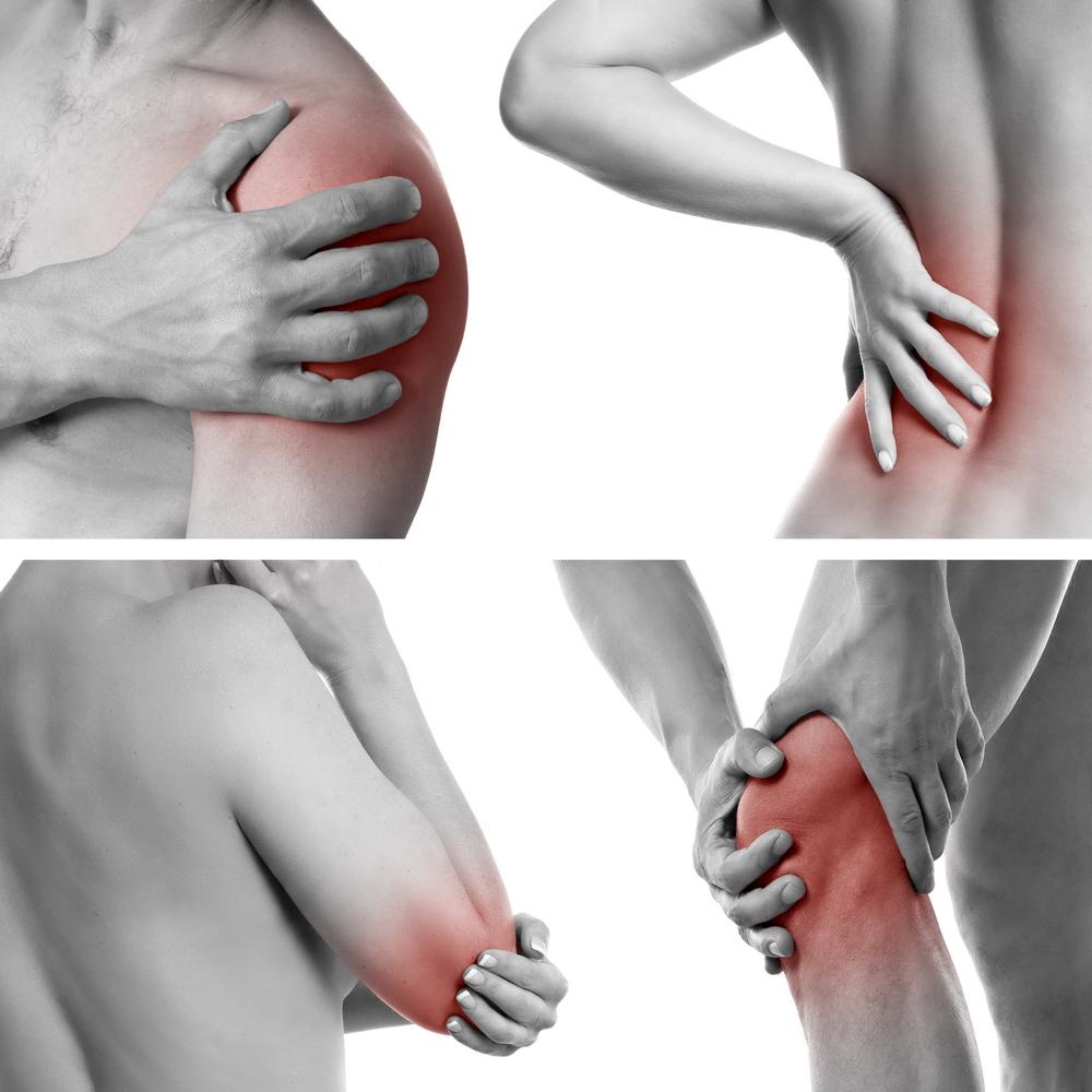 durere în toate articulațiile pe o parte)