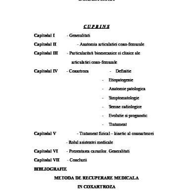 Boala articulațiilor coxo - Istoricul bolii