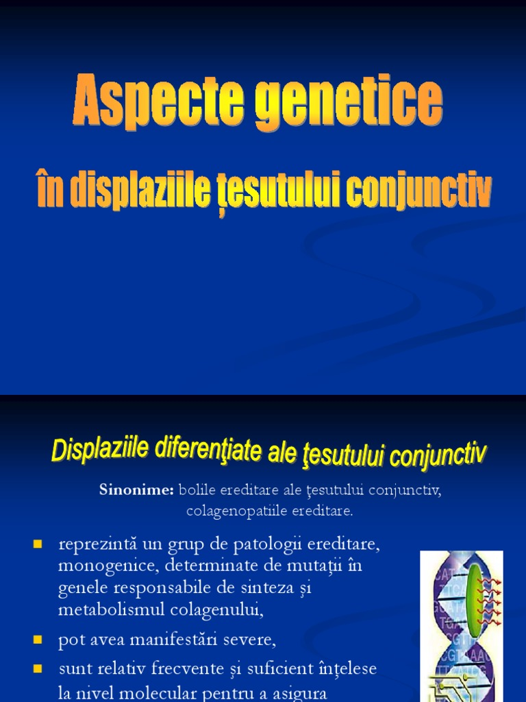 boli ereditare ale țesutului conjunctiv