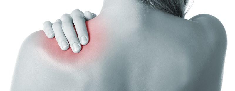 durere în articulația umărului drept și a gâtului)