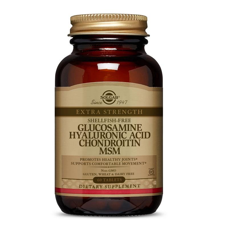 Complex Glucozamină și Condroitina, 90 capsule, Natures Aid Smântână cu glucozamină și condroitină