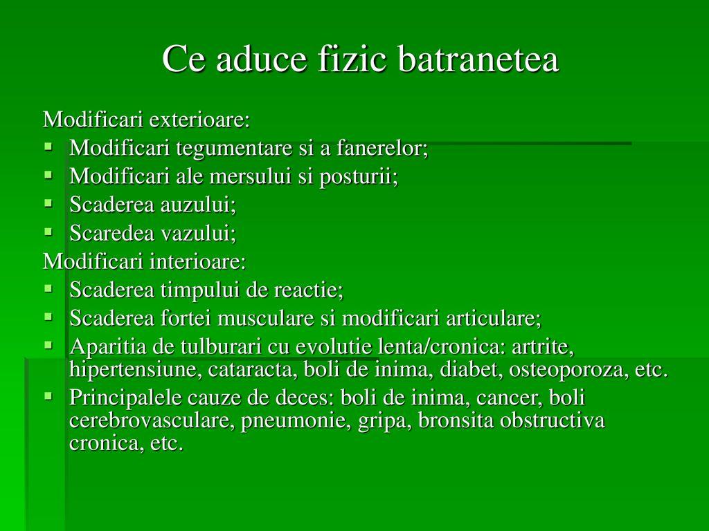 boli articulare în cursul bătrâneții