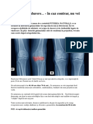articulațiile genunchiului doare dimineața